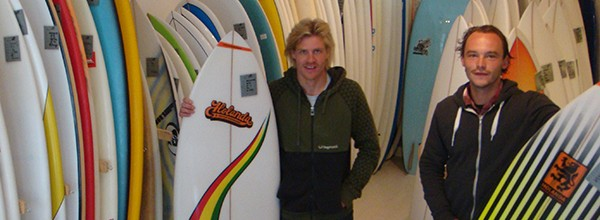 Holanda surfboards in de Noordzee Boardstore.